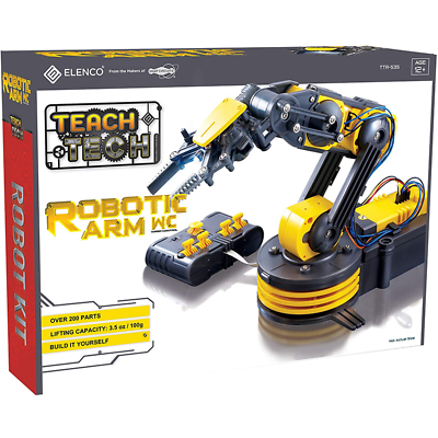 "Elenco TTR-535 Teach Tech ""Robot Arm Wire Controlled"" Robotic Arm Kit"
