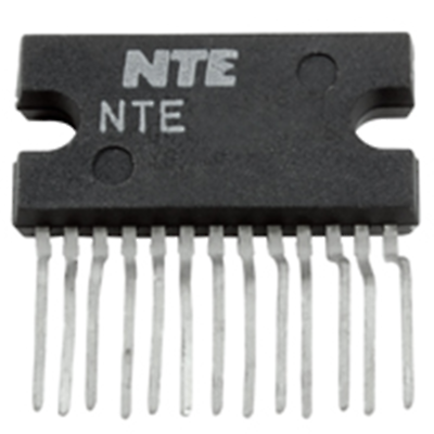 NTE Electronics NTE7230 IC-2 X 8W STEREO AUD AMP W/DC VOLUME CONTROL 13 LEAD SIP
