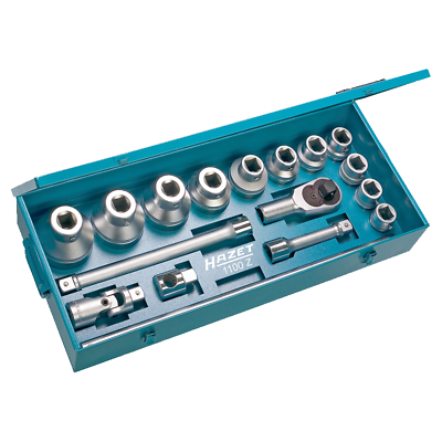 "Hazet 1100Z Socket Set, 1.0"" drive, 32 - 80mm, 17 pieces"
