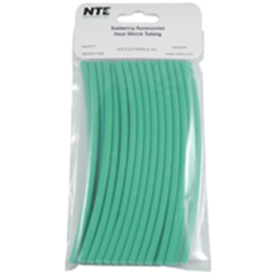 NTE Electronics 47-20406-G Heat Shrink 3/16 In Dia Thin Wall Green 6 In Length