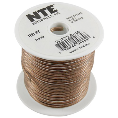 NTE Electronics  W142CLR-25 WIRE-CLEAR SPEAKER 14/2GAUGE STRANDED 25 FEET