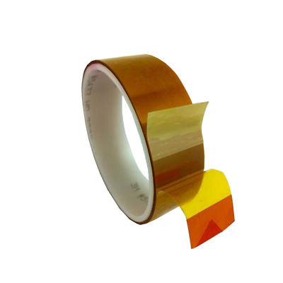 3M Linered Low-Static Polyimide Film Tape 5433 Amber, 2 in x 36 yds x 2.7 mil