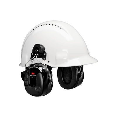 3M™ PELTOR™ ProTac III Headset, Black, Hard Hat Attached