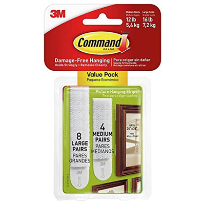 Command Medium and Large Picture Hanging Strips 17209-ES