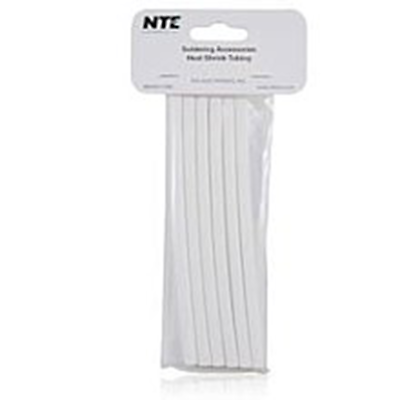 "NTE Electronics 47-25206-W Heat Shrink 1/4"" Dia W/adhesive WHT 6"" Length 6pcs"