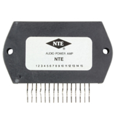 NTE Electronics NTE7031 MODULE 100W AUDIO POWER AMP 15-LEAD SIP VCC= 51V TYPICAL