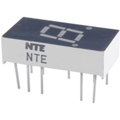 NTE Electronics NTE3055 LED-display Yellow 0.300 Inch Seven Segment Common Anode