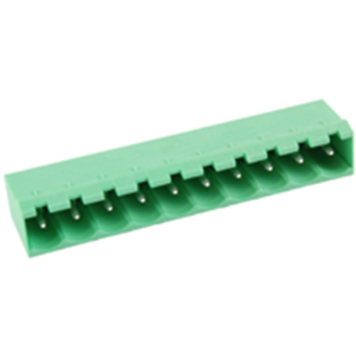 NTE Electronics 25-E1300-10 Terminal Block 10 Pole 5.08mm Pitch PC Mount