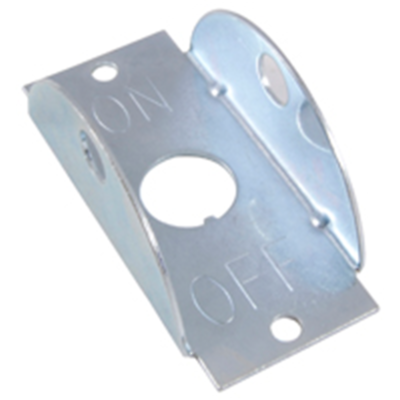 NTE Electronics 54-902 INDICATOR PLATE ON-OFF LEGEND NICKEL PLATED STEEL