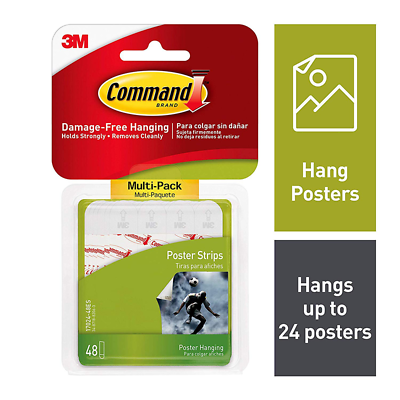 Command™ Poster Strips, Multi-Pack 48 strips, 17024-48ES