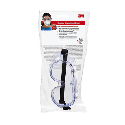 3M™ Chemical Splash/Impact Goggle, 91252-80025
