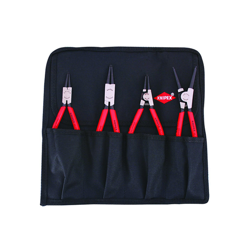 Knipex 9K 00 19 53 US Straight Circlip Snap-Ring Pliers Set in Pouch, 4 Piece