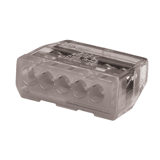 Ideal 30-187 In-Sure Push-In Wire Connector, 5-Port Gray, 1,000/box