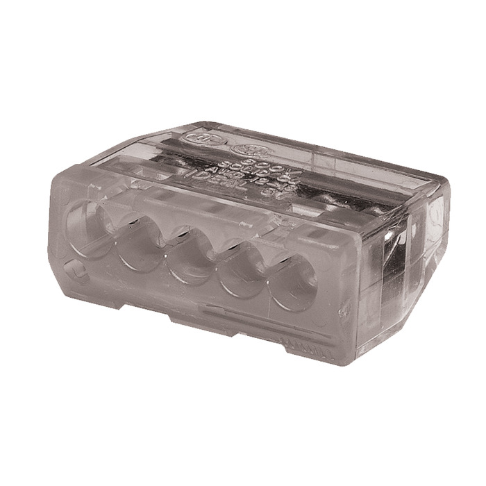 Ideal 30-687 In-Sure Push-In Wire Connector, Model 87 5-Port Gray, 3,000/box