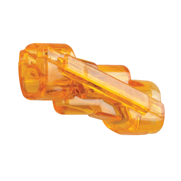 Ideal 30-1042 SpliceLine In-Line Wire Connector, Model 42, Orange, 100/box