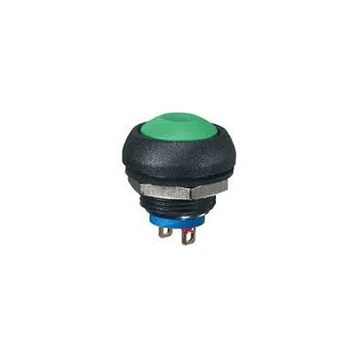 Philmore 30-12634 Green Sealed Minature Push Button Switch