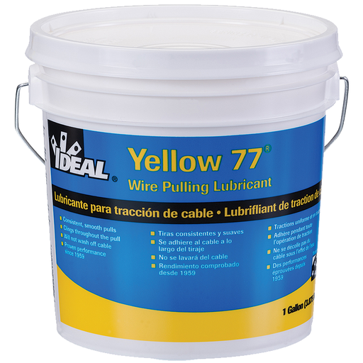 Ideal 31-351 Yellow 77 Wire Pulling Lubricant (1-Gallon Bucket)