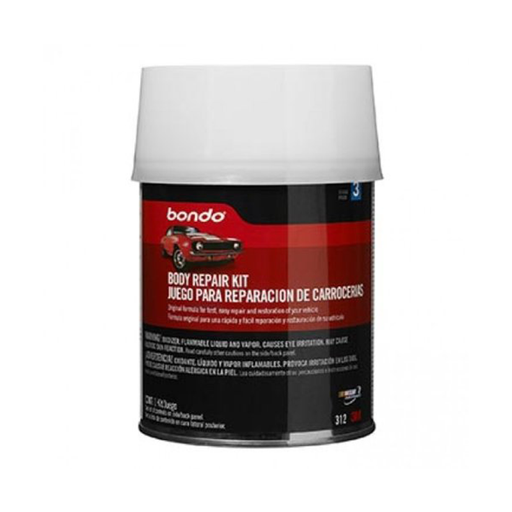 3M 312 Bondo Autobody Filler Kit Quart Can