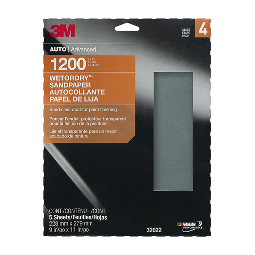 "3M 32022 9"" x 11"" Imperial Wetordry 1200 Grit Sheet"