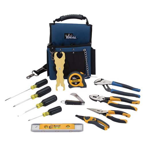 Ideal 35-790 Journeyman Electrician's Kit, 13-Piece