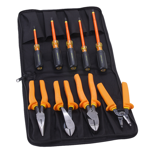 Ideal 35-9108 9 Pc Insulated Tool Kit W/Bag