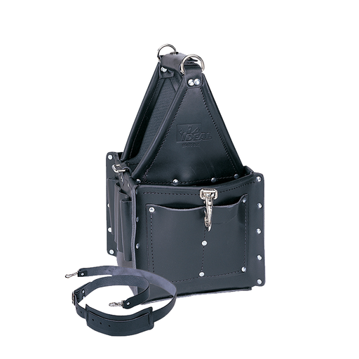 Ideal 35-975BLK Tuff-Tote Ultimate Tool Carrier, Premium Black Leather w/Strap