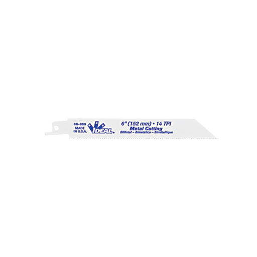 Ideal 36-057 Recip. Blade, Metal Cutting, 6 x 3/4 x .035, 18 TPI
