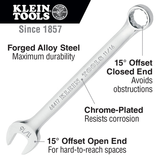Klein Tools 68400 Combination Wrench Set, 7 Piece