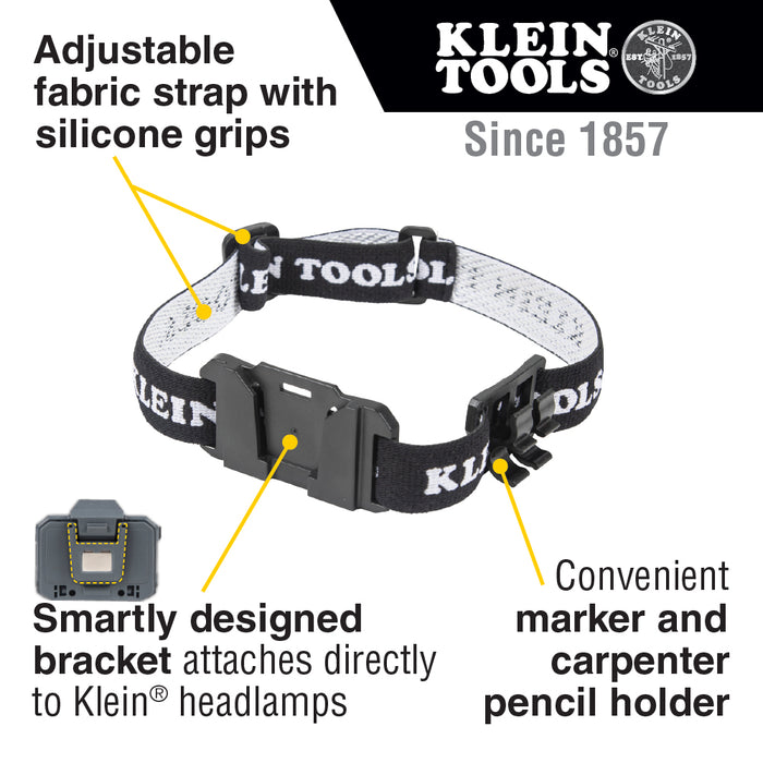 Klein Tools 56060 Headlamp Bracket with Fabric Strap
