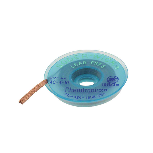 "Chemtronics 40-2-10 Lead Free Wick, .060"" 10ft Roll"