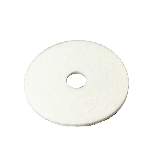 "3M 4100 Series 11"" White Super Polish Pad, 5 Piece"
