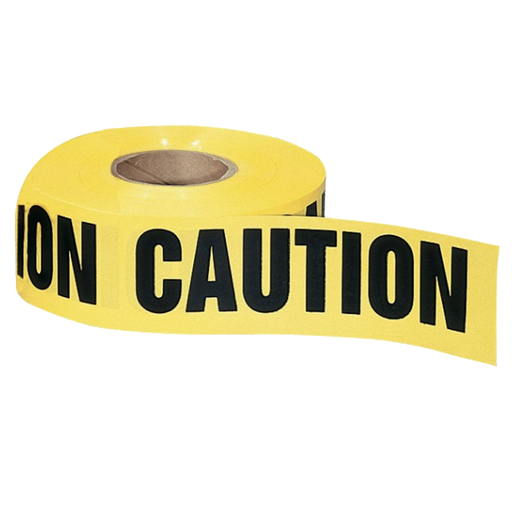 "Ideal 42-001 Barricade ""Caution"" Tape, Yellow 3""x1000'"