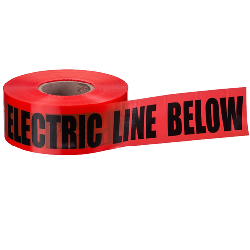 "Ideal 42-151 Underground ""Caution Buried Electric Line"" Tape, Red 6""x1000'"