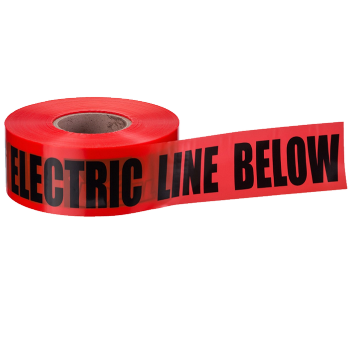"Ideal 42-101 Underground ""Caution Electric Line Buried"" Tape, Red 3""x1000'"