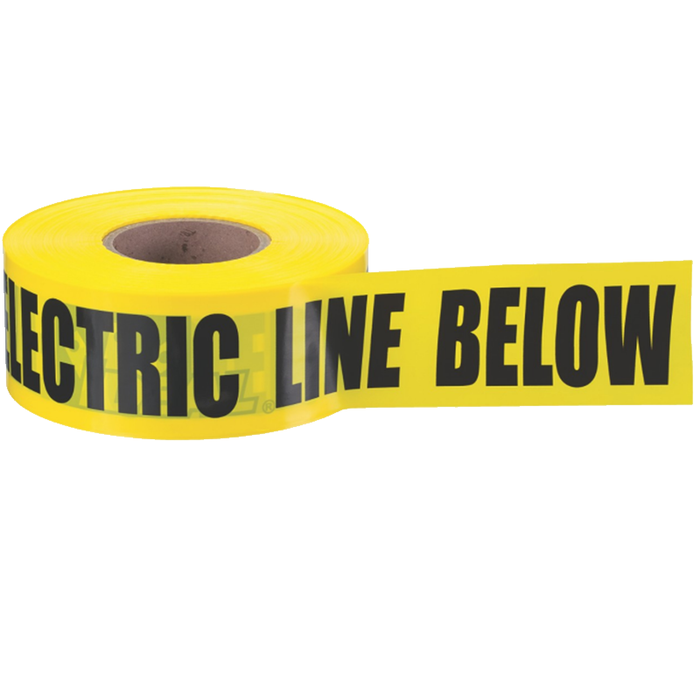 "Ideal 42-102 Underground ""Caution Electric Line Buried"" Tape, Yellow, 3""x1000'"