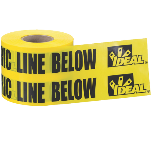 "Ideal 42-152 Underground ""Caution Buried Electric Line"" Tape, Yellow 6""x1000'"