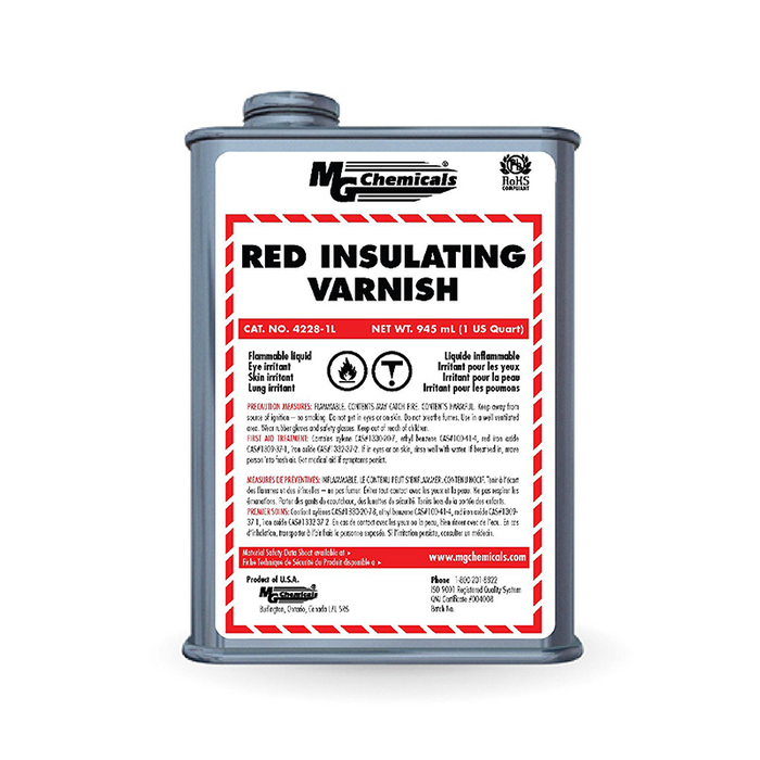 Mg Chemicals 4228-1L Red GLPT Insulating Varnish