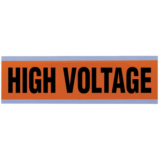 "Ideal 44-292 Voltage and Conduit Marker Card, ""High Voltage"", Large"