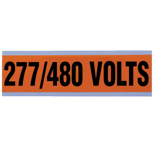 "Ideal 44-298 Voltage and Conduit Marker Card, ""277/480v"", Large"
