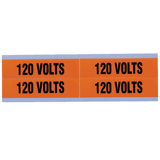 "Ideal 44-353 Voltage and Conduit Marker Card, ""120v"", Medium"
