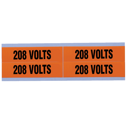 "Ideal 44-355 Voltage and Conduit Marker Card, ""208v"", Medium"