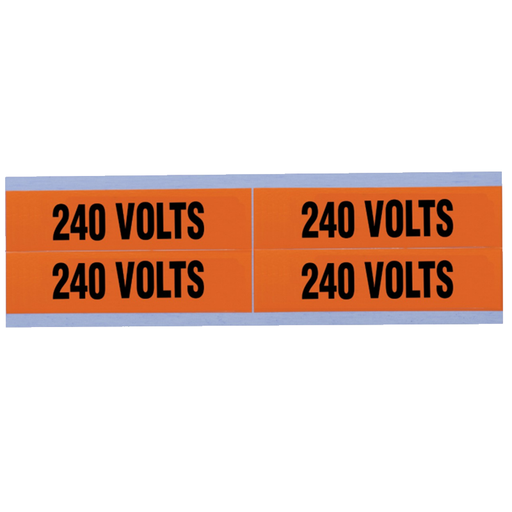 "Ideal 44-358 Voltage and Conduit Marker Card, ""240v', Medium"