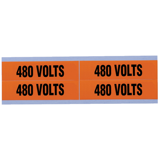 "Ideal 44-364 Voltage and Conduit Marker Card, ""480v"", Medium"
