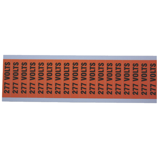 "Ideal 44-410 Voltage and Conduit Marker Card, ""277v"", Small"