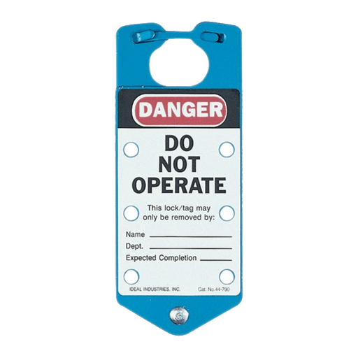 "Ideal 44-790 Safety Lockout Hasp, ""Do Not Operate"", Blue"