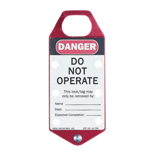 "Ideal 44-791 Safety Lockout Hasp, ""Do Not Operate"", Red"