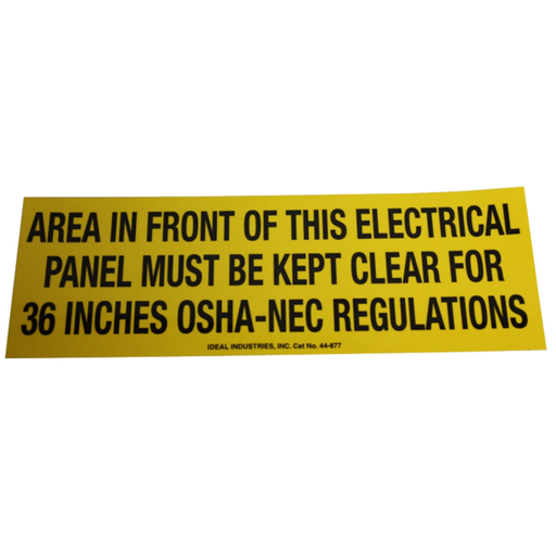 Ideal 44-877 Safety Sign, Osha Regulation, Adhesive