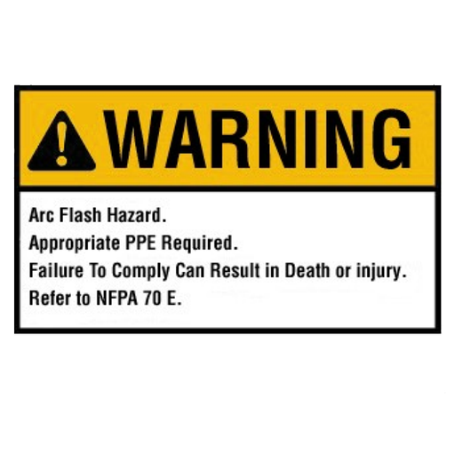 "Ideal 44-892BK Warning Label, Nec Arc Flash, 3-1/2"" x 5"", Adhesive, Bulk 100pc"