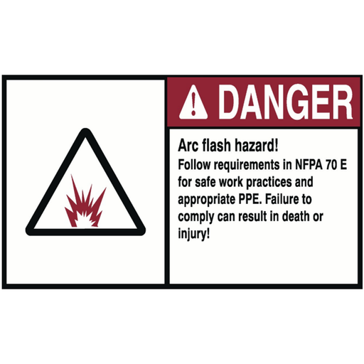 "Ideal 44-895 Danger Label, Nec Arc Flash, 4"" x 6"", Adhesive"