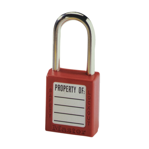 "Ideal 44-916 Padlock, Xenoy, 1-1/2"" Shackle, Red, w/Keys"